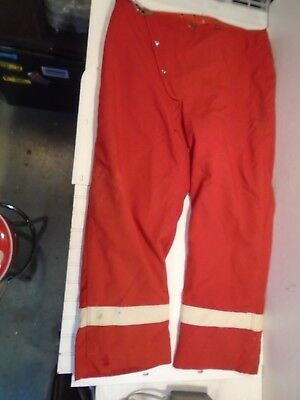 Globe Fire Turnout Pants Red Size 44 waist Vintage 1980s