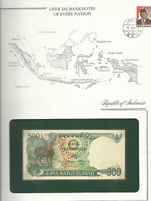Banknotes of Every Nation Indonesia 500 Rupiah 1988 P123 UNC Prefix TBG