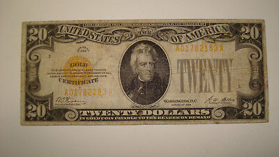 Series 1928 $20 Gold Certificate - You Grade It (#Vm89)