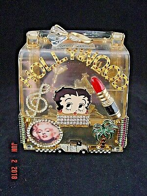 Vintage  Rare  Betty  Boop  Jeweled  Lucite  Purse  (Hand Made)