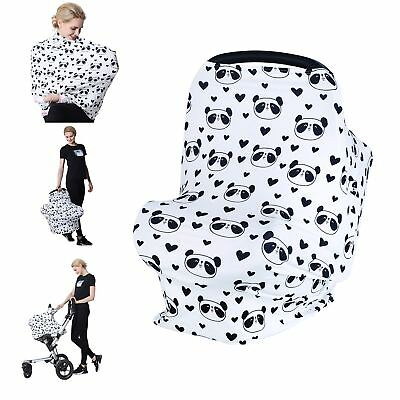 Losska Baby Car Seat Cover canopy nursing and breastfeeding cover (Black hear...