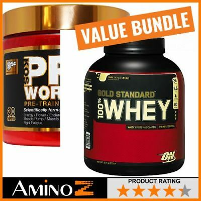 Body Science BSc K-OS Pre-Workout 30 Serves (180g) + Optimum Nutrition Gold Stan