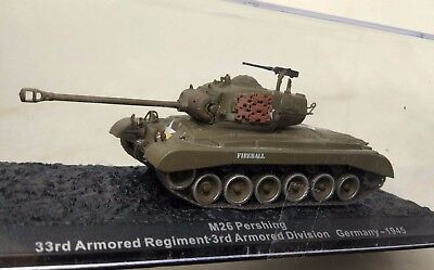 1/72  Assembled painted diecast alloy M26 Pershing tank w display box
