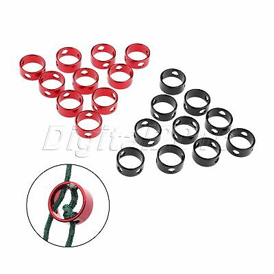 Outdoor Camping Tent Wind Rope Ring Round Regulat Buckle Cord Tensioner 20Pc/Kit