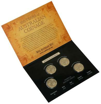 2010 Australian 100 Years of Coinage $1.00 4 Coin Mintmark & Privy Mark Set CBMS