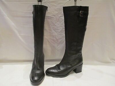12a97952772 Odd Size Pair Clarks Mascarpone Ela Black Leather High Calf Boots Uk 7D  (1284)