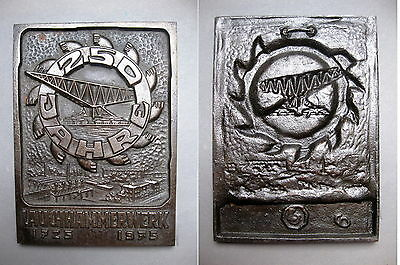 Cast Iron Plaque Lauchhammer 250 Years Consist 1975 Mining