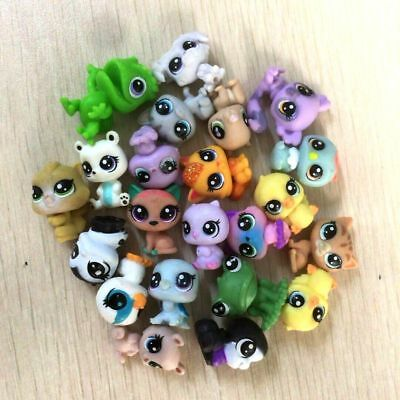 random 10Pcs Littlest Pet Shop panda bear dog cat pet super mini figure toy gift