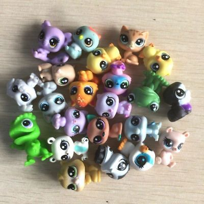 random 10Pcs Littlest Pet Shop duck dog cat panda pet super mini figure toy doll