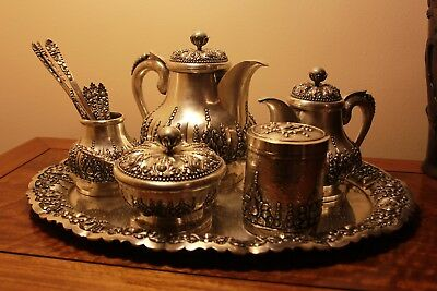 Solid Silver Beautiful Hand Made Coffee Set