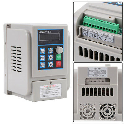 Variable Frequency Drive VFD 220V 1.5KW 8A Speed Controller for 3-phase Motor