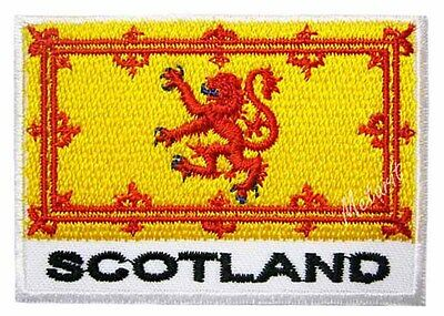 #37 SCOTLAND Flag Iron On Patch Aufbügler Applique Ecusson SCHOTTLAND Fahne