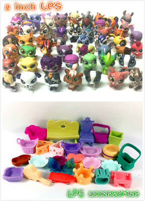 Random 20Pcs Littlest pet shop LPS Animals cow sheep dog Figure toy & accessory