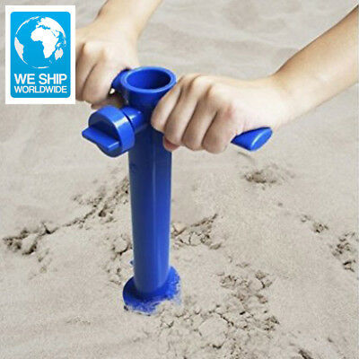 Plastic Sun Beach Umbrella Sand Anchor Auger Screw Universal Size Safe Stand for