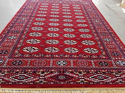 Traditional Afghani Bhokara  Design Rug Thick High Quality Silk Like Carpet