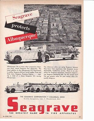 Albuquerque Protected By Seagrave   1953  Ad                      7060