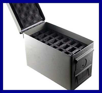 .50 Cal Ammo Can 24 Pistol Magazine Holder Foam Insert For Steel 50 Caliber Ammu