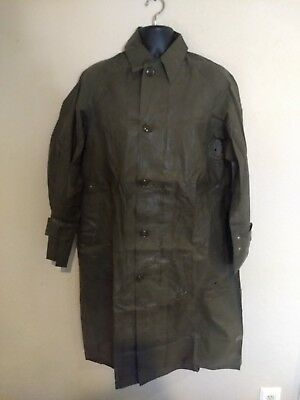2b54f4162 KOREAN WAR 1951 lightweight RUBBER RAINCOAT w/ personal letter SIZE SMALL