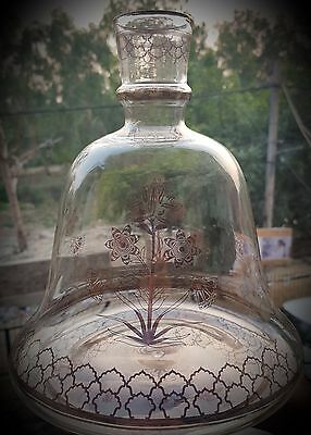 Rare antique islamic mughal glass hookah base of 19th century
