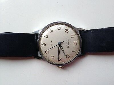 VINTAGE SUMMIT 17 JEWELS SWISS MADE INCABLOC MANUAL WIND 32mm WORKING WATCH