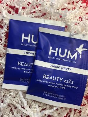 HUM BEAUTY zzZz Sleep Supplement - 14 Day Supply (2 Packets) - NEW, FREE SHIP!