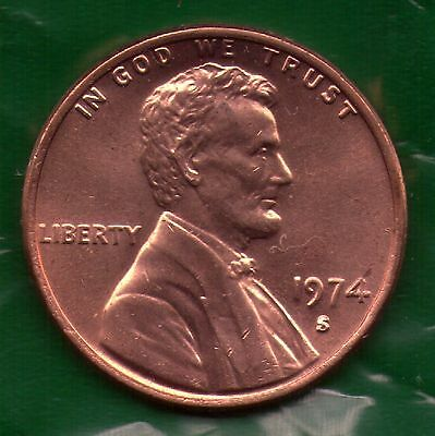 1974 S Penny   UNC   SELL-OFF   Slot Filler or Starter Coin   (74S0603)