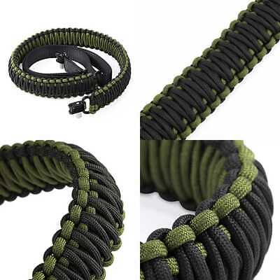 Gun Sling W Swivel Adjustable Tactical Paracord Rifle For Hunting Camping Outdoo