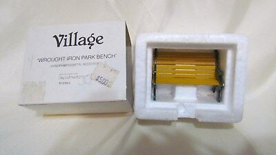 """Department 56 VILLAGE Accessory """"wrought iron park Bench"""" 52302 MIB"""