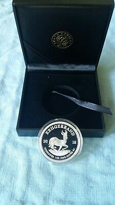 2018 1oz Silver PROOF Krugerrand only 15000 minted. LOW COA #01032 IN HAND USA.