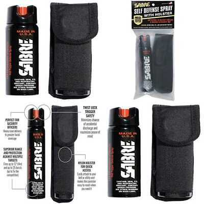 3 IN 1 Pepper Spray MAGNUM Tactical Size Unit W Holster  Strength Larger 4.36 O