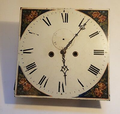 Clock face with mechanism