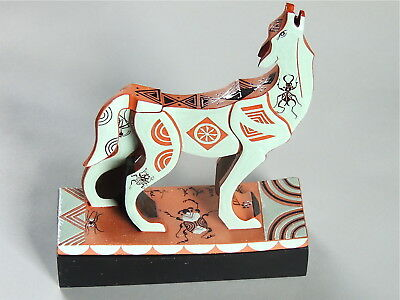 Mariko Swisher contemporary ceramist, figurative, sculpted wolf teapot and lid