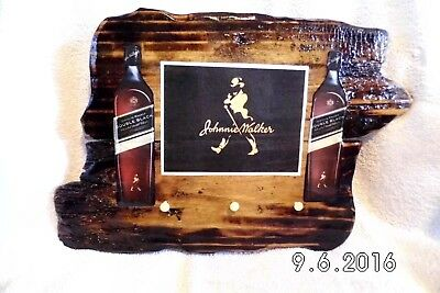 Handmade Wooden Johnnie Walker Double Black Bar Sign/Keyholder Original 2016