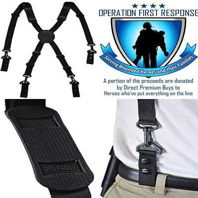 Operation First Response Nylon Police Duty Belt Suspenders PLASTIC Hardware
