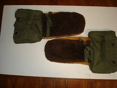 U.s. Army  Korean War 1951 Artic Mittens Gloves M-1949 With Inserts Size Small