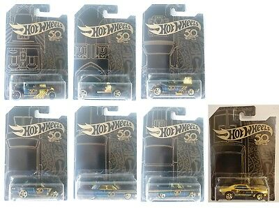 2018 Hot Wheels 50 th Anniversary GOLD Series Set Diecast Metal Toy Cars 1:64
