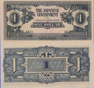 Malaya-Japanese Government, 1 Dollar Banknote 1942 Ch,About Uncirculated#M-5-C