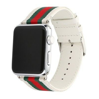 For Apple Watch Band Strap Replacement Wrist Brace 42mm Nylon / Genuine Leather