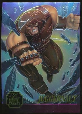 1995 Marvel Annual Chromium Trading Card #11 Juggernaut