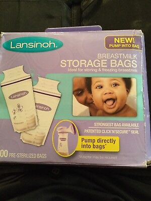 Lansinoh Breastmilk Storage Bags, 100 Count, BPA Free and BPS (Packaging May...
