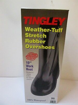 TINGLEY 1400 Men's Medium Natural Rubber Overboots Waterproof Fits 8 to 9-1/2