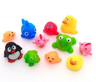 Kids Bath Water Squirters Set of 11 Soft Animals Baby & Toddler Bathtime Toys