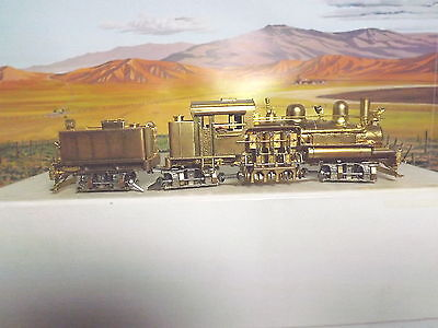 Hhon3 Brass Steam Engine No.8 West Side Lumber 3 Truck Shay With Extra Parts