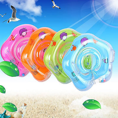 Newborn Inflatable Infant Swimming Neck Float Ring Baby Safety Aid Circle 2018