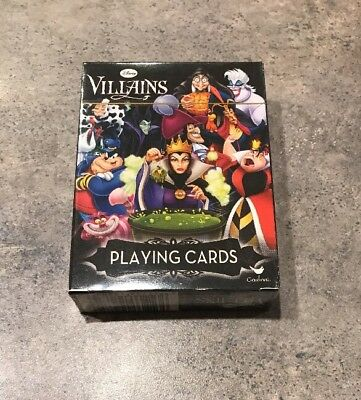 Disney / Villains /Playing Cards by Cardinal /NIB