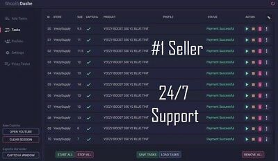 DASHE SHOPIFY BOT LATEST v2 4 6 FAST DELIVERY Yeezy Supply Kith WINDOWS ONLY