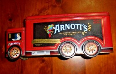 Collectable Arnott's Biscuit tin ~ A-142 Truck