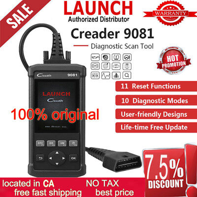 Launch CR9081 Car Code Reader car Full OBD2 Diagnostic Scanner Tool TPMS SAS EPB