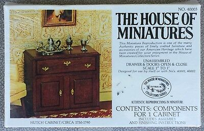 The House Of Miniatures Hutch Cabinet Circa 1750-1790 No.40003 - New Sealed