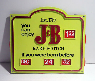 Vintage J&b Rare Scotch Bar Sign - If You Were Born Before